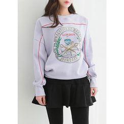 J-ANN - Lettering Print Sweatshirt