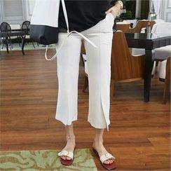 LIPHOP - 开衩摆短款裤