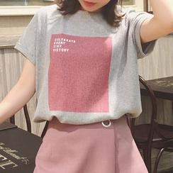 Rocho - 印花針織短袖T恤