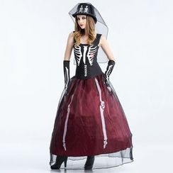 Cosgirl - Skeleton Party Costume