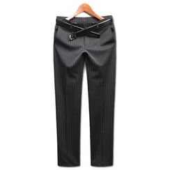 Seoul Homme - Pinstriped Dress Pants