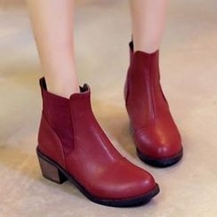 Tomma - Block Heel Short Boots