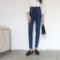 VeryBerry - Buttoned High Waist Jeans