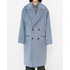 Someday, if - Double-Breasted Wool Blend Long Coat