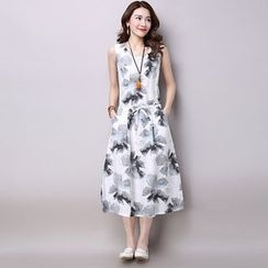 Ekim - Floral Print Sleeveless Dress