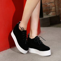 Shoes Galore - Platform Hidden Wedge Sneakers
