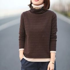 Ranche - Mock Two-Piece Turtleneck Sweater