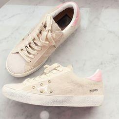 DANI LOVE - Round-Toe Furry Sneakers