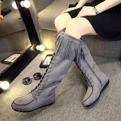 Yoflap - Fringed Tall Boots