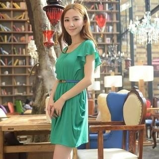 9mg - Ruffled Chiffon Dress