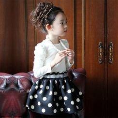 Cuckoo - 童装长袖太空棉圆点连衣裙