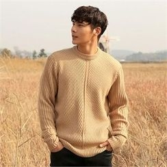 BYMONO - Crew-Neck Ribbed Wool Blend Sweater