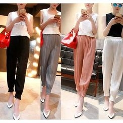 Whitney's Shop - Shirred Chiffon Harem Pants