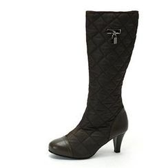 MODELSIS - Padded Genuine Leather Knee Boots