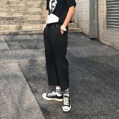 匡億 - 短款寬腿褲
