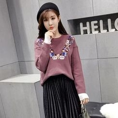 Honeydew - Flower Embroidered Sweater