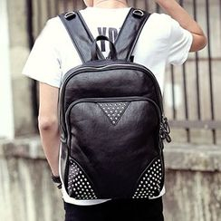 BagBuzz - Studded Faux Leather Backpack