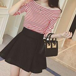 Fashion Street - Stripe Knit Top