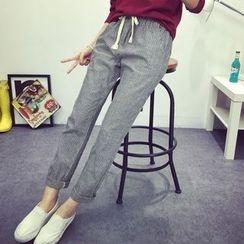 Tangi - Pinstriped Drawstring Pants