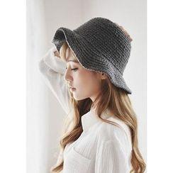 GOROKE - Waffle-Knit Wool Blend Bucket Hat
