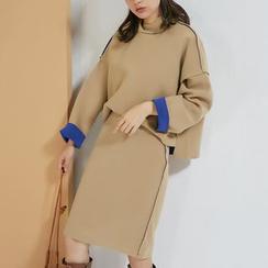 AC - Set: Drop-Shoulder Top + Midi Skirt