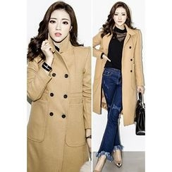 INSTYLEFIT - Wool Blend Double-Breasted Coat