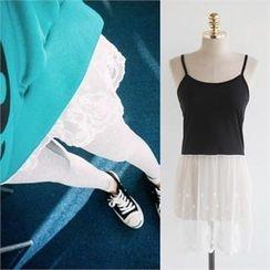 QNIGIRLS - Lace-Hem Camisole (2 Designs)