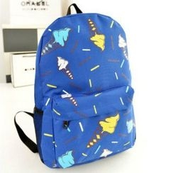 Youme - Ice Cream Print Canvas Backpack