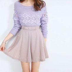 東京著衣 - 珠飾裙褲