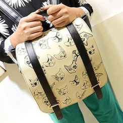 TAIPEI STAR - Stitched Animal Two-Tone Backpack