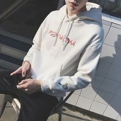 qiaqiayes - Letter Embroidered Hoodie