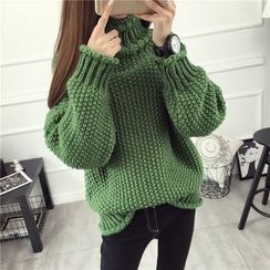 Loytio - Chunky Knit Turtleneck Sweater