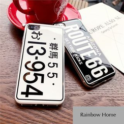 Rainbow Home - Car Plate Mobile Case - iPhone 7 / 7 Plus / 6s / 6s Plus