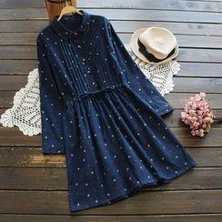 YOYO - 抽绳图案衬衫连衣裙