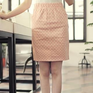 Tokyo Fashion - Dotted Pencil Skirt