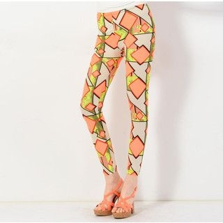 YesStyle Z - Mixed Print Leggings