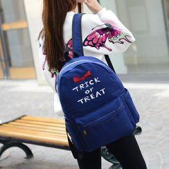 Seok - Lettering Denim Backpack