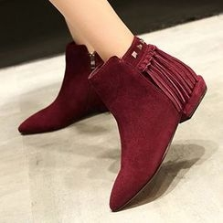 Gizmal Boots - 吊苏铆钉及踝靴