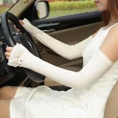 RGLT Scarves - Lace-Trim Long Gloves