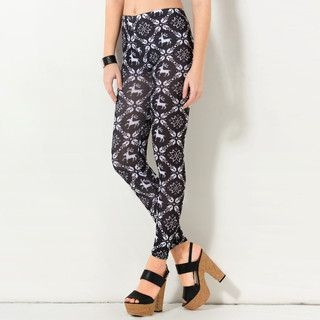 YesStyle Z - Nordic Pattern Leggings