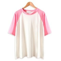 Momewear - Short-Sleeve Color-Block T-Shirt