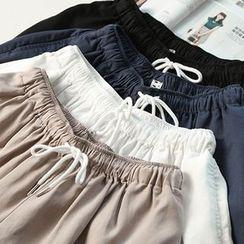 蘭芝 - 純色寬腿短褲