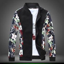 Alvicio - Printed Panel Zip Jacket