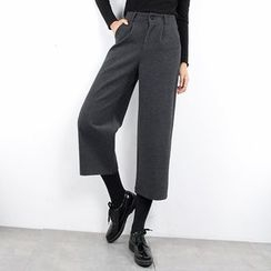 Tonya - Knit Capri Wide Leg Pants