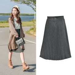 Moriville - Pleated Midi Skirt