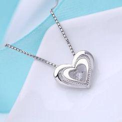 Zundiao - Sterling Silver Heart Pendant