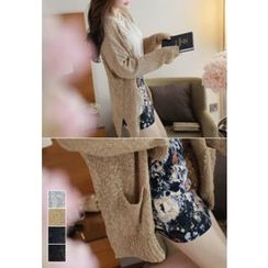 MyFiona - V-Neck Long Cardigan