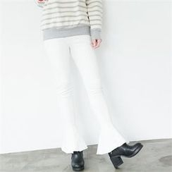 GLAM12 - Boot-Cut Skinny Pants