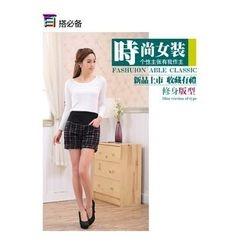 Shandie - Plaid Maternity Shorts