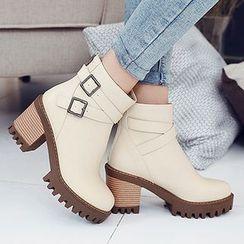 Gizmal Boots - 粗跟短靴